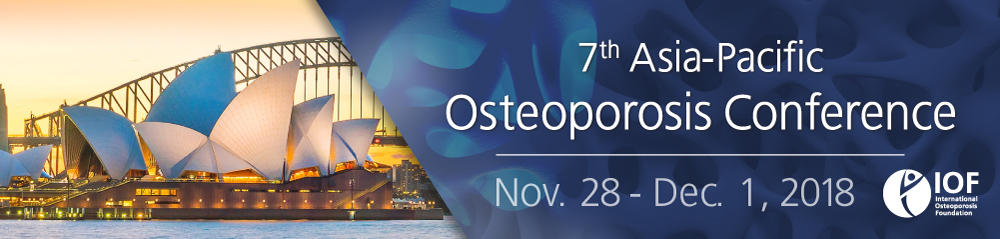 7th Asia-Pacific Osteoporosis Conference - Nov. 30 to Dec. 1, 2018 - IOF